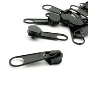Reißverschlussschieber schwarz 10mm