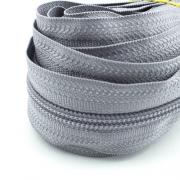 5 Meter Endlosreißverschluss grau 5mm