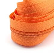 5 Meter Endlosreißverschluss orange 5mm