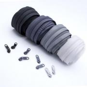 Reißverschluss-Set grau 5mm