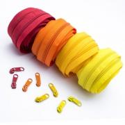 Reißverschluss-Set 5mm rot und gelb