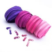 Reißverschluss-Set pink 5mm