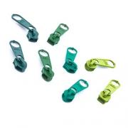 8 Schieber für Reißverschluss-Set grün 5mm