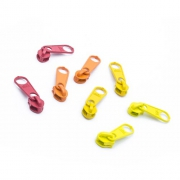 8 Schieber für Reißverschluss-Set rot und gelb 5mm