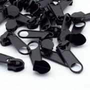 Reißverschlussschieber schwarz 8mm