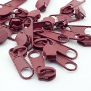 10 Stück Reißverschlussschieber weinrot bordeaux 8mm