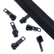 10 Stück Schieber schwarz für 5mm Profil-Reißverschluss