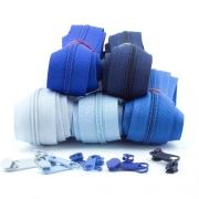 Reißverschluss-Set 3mm Blautöne