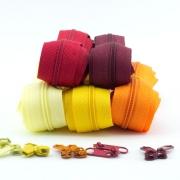 Reißverschluss-Set 3mm Gelb- und Rottöne