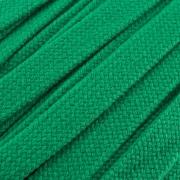 Flachkordel Hoodiekordel grün 20mm Baumwolle