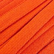 Flachkordel Hoodiekordel orange 20mm Baumwolle