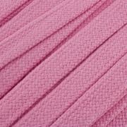 Flachkordel Hoodiekordel rosa 20mm Baumwolle
