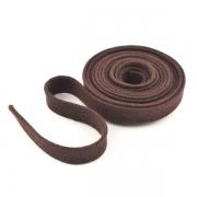 Flachkordel Hoodiekordel dunkelbraun 15mm Baumwolle