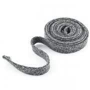 Flachkordel Hoodiekordel dunkelgrau meliert 15mm Baumwolle