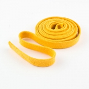 Flachkordel Hoodiekordel gelb 15mm Baumwolle
