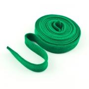 Flachkordel Hoodiekordel grün 15mm Baumwolle