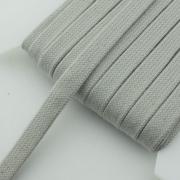 Flachkordel hellgrau 15mm Baumwolle