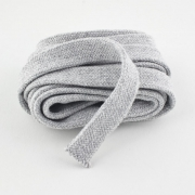 Flachkordel hellgrau 18mm Baumwolle