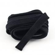 Flachkordel schwarz 18mm Baumwolle