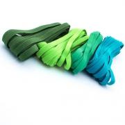 20m Gummiband-Set 7mm Mix grün