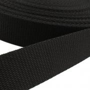 Hochwertiges Gurtband schwarz 25mm