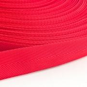 Polypropylen-Einfassband Köperband rot 25mm