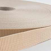 Gurtband 25mm Made in Germany beige
