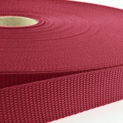 Gurtband 50mm Made in Germany bordeaux
