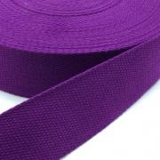 Gurtband Baumwolle lila 25mm