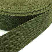 Gurtband Baumwolle oliv 25mm