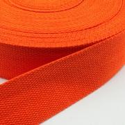 Gurtband Baumwolle orange 25mm