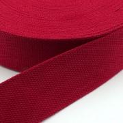 Gurtband Baumwolle rot 25mm