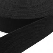 Gurtband Baumwolle schwarz 40mm