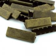 10 Stück Gurtband Endstück 40mm altmessing