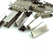 10 Stück Gurtband Endstück 30mm silber