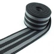 Gurtband grau silber 50mm