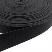Gurtband Baumwolle schwarz 20mm