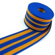 Gurtband blau gelb 50mm