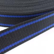 Gurtband zweifarbig schwarz blau 30mm