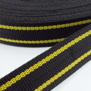 Gurtband zweifarbig schwarz gelb 30mm