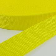 Gurtband zitronengelb 25mm