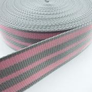 Gurtband grau rosa 50mm