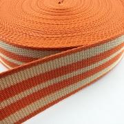 Gurtband orange beige 50mm