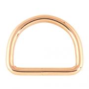 5 Stück D-Ring rosegold  26 x 19mm geschweißt