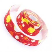 4m Gummiband 25mm Bubbles rot