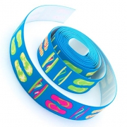 4m Gummiband 25mm Flip Flop blau