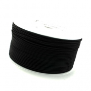 50m Hutgummi schwarz 1mm
