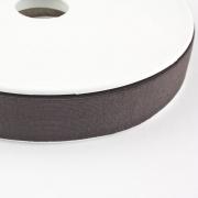 Jersey-Schrägband 20mm schwarzbraun