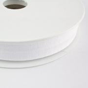 Jersey-Schrägband 20mm weiß