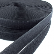 10m Klettband schwarz 25mm